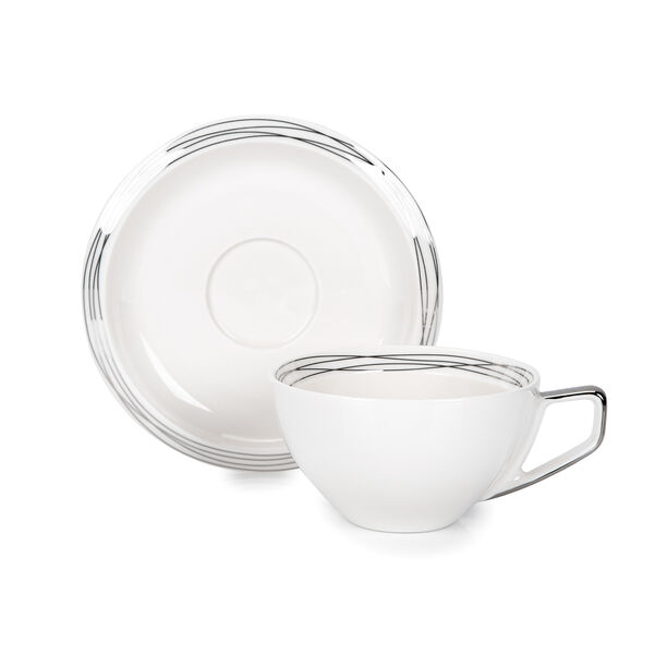 English Tea Cups Set Silver 250 Ml image number 1