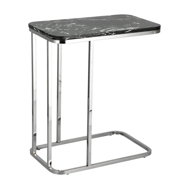 Side Table Silver Leg Black Top image number 1