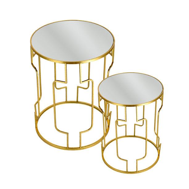 طقم طاولات جانبية متداخلة قطعتين  image number 2