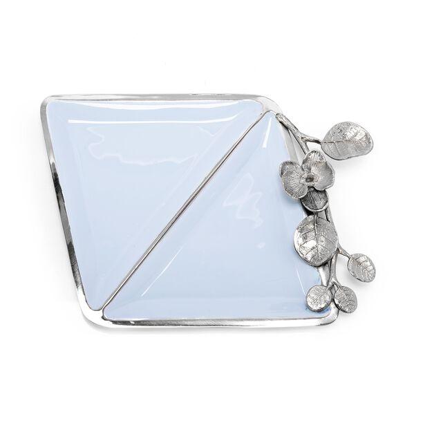 La Mesa Nut Bowl Blue Silver Design image number 0