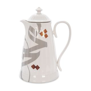 Dallety Porclain Vacuum Flask Ingenuity White 1 L