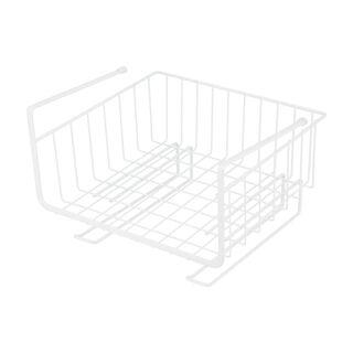 Alberto White Coated Over The Shelf Basket Rack
