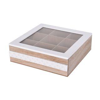 صندوق شاي خشبي 9 اقسام