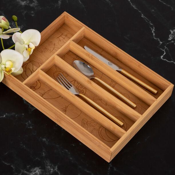 صندوق خشبي مقسّم لحفظ ادوات المائدة من البرتو image number 2