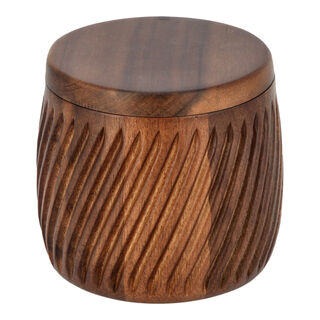 Acacia Wood Storage Canister With Lid Walnut Color