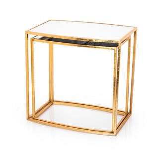 Metal/Gold Side Table Set 2 Pieces