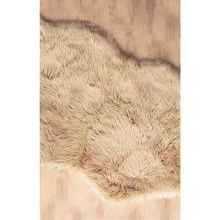 سجادة فرو صناعي لون ترابى 80*150 سم من كوتاج