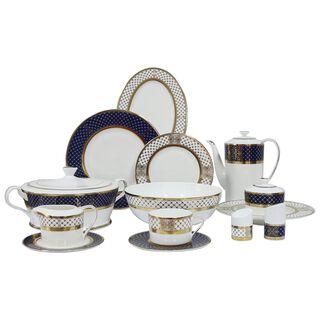 La Mesa 47 Pieces Porcelain Dinner Set Fine Bone