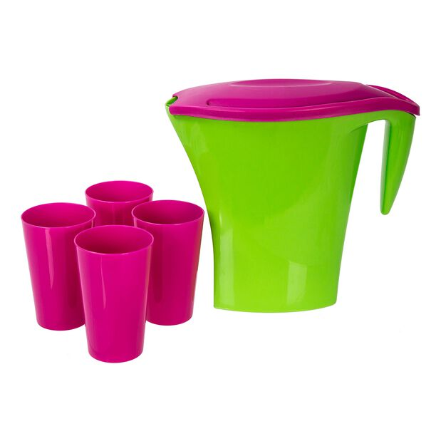 Pitcher With Four Cup Set image number 1