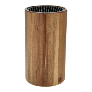 Alberto Acacia Wood Knife Block Holder
