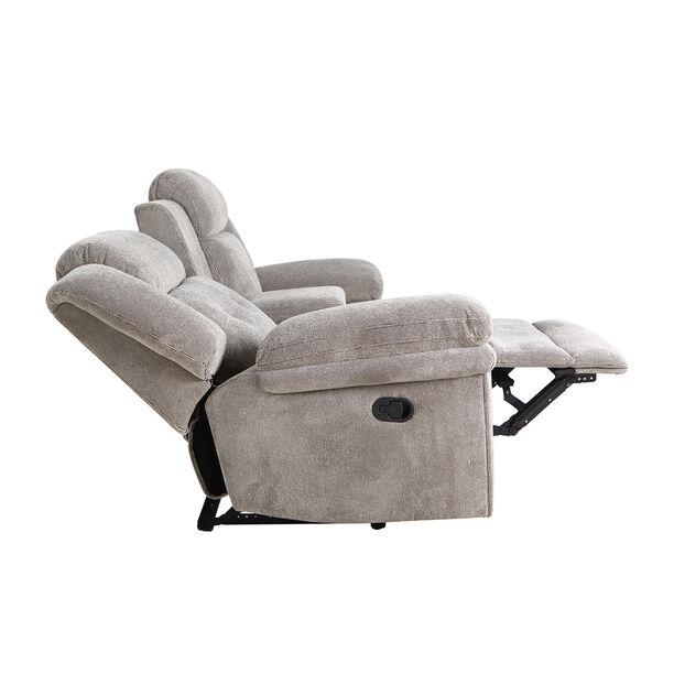 كرسي إسترخاء بمقعدين لون رمادي image number 6