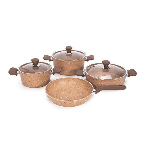 Pentola 7 Pieces Granite Cookware Set Brown image number 1