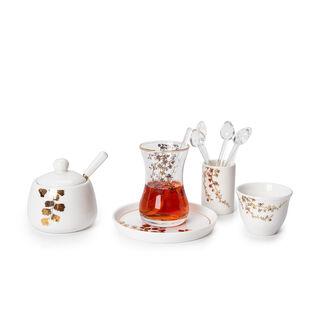 28Pcs Porcelain Tea And Coffee Set Gold Leaf