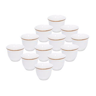 La Mesa Coffee Cup Set 12 Puieces Gold