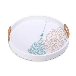 Serving Round Tray Ornament Design
