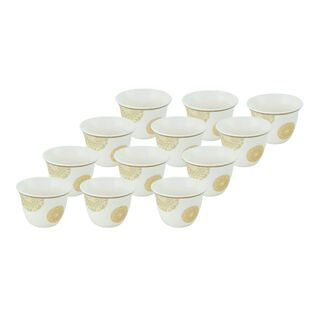 La Mesa Fairouz Gold Coffee Cups Set 12 Pieces