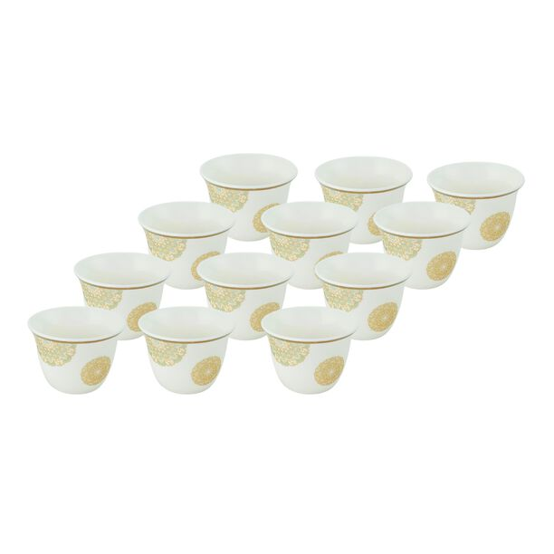 La Mesa Fairouz Gold Coffee Cups Set 12 Pieces image number 0