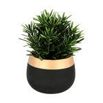 Artificial Plant Succulent In Cement Pot Green image number 0