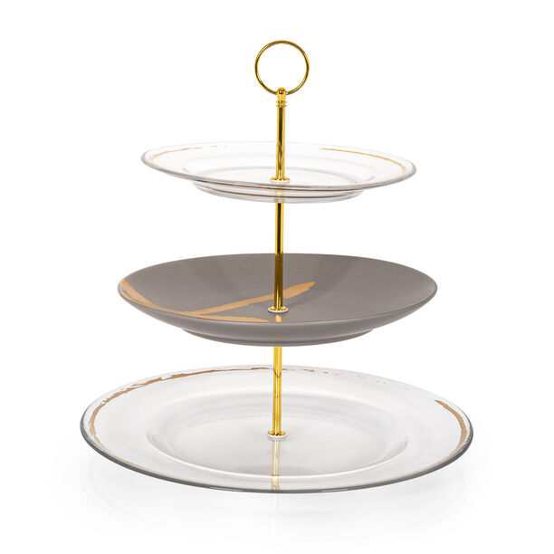 Gold Figure 3 Tier Cake Plate image number 2