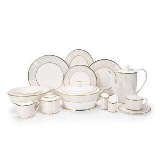 Fine Bone Porcelain Dinner Set 47 Pcs