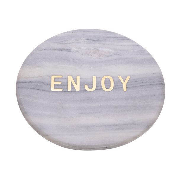 Cake Serving Plate With Wooden Stand image number 1