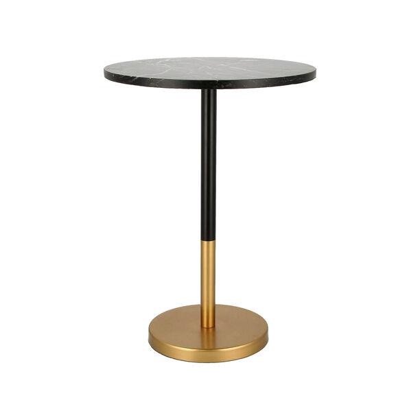 Side Table Gold Base Black Marble Top image number 1