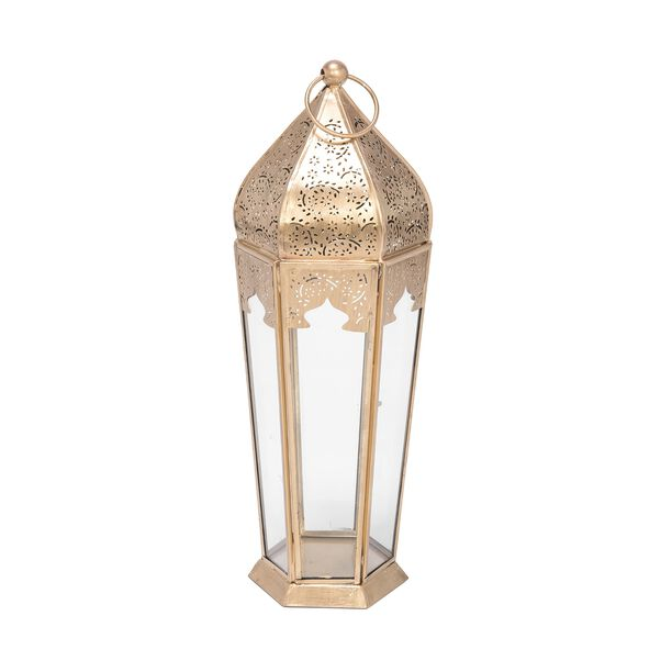 Moroccan Lantern Metal And Glass  image number 0
