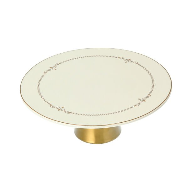 Andalusian Gld Frill Footed Cake Stand image number 3