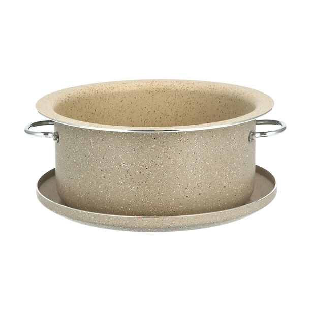 Marble Coating Casserole With Serving Lid image number 2