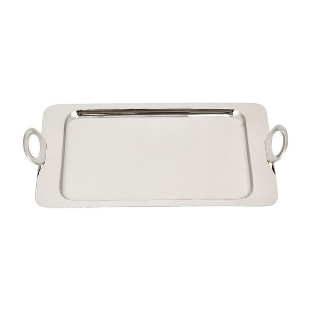 Steel With Wood Tray Rectangular Silver image number 3