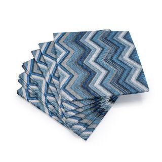 Ambiente Serving PaperNapkinsTextured Chevron Design Blue Color