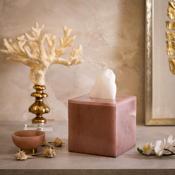 Tissue Box Rose Quartz Premium Stone image number 0