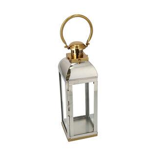 Lantern Stainless Steel Silver & Gold