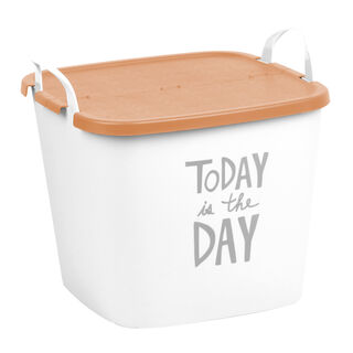 Plastic Printed Flexible Tub With Flip Lid