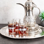 Moroccan Tea Glass 6 Peaces Silver  image number 3