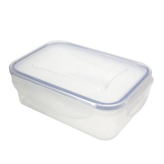 Alberto Plastic Food Saver  Rect Shape V-0.5L Blue Lid