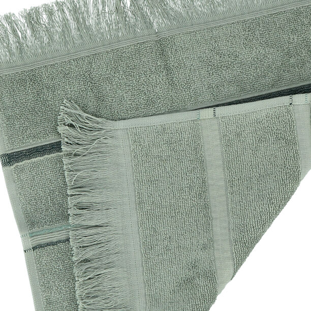 Face Towel Stripe Green image number 2