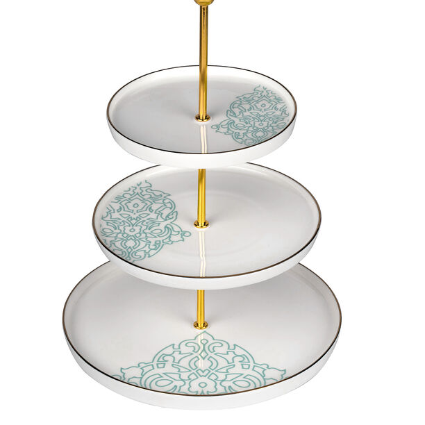 3 Tier Cake Stand Ornament image number 0