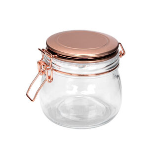 Alberto Glass Storage Jar With Metal Clip Lid 1100Ml