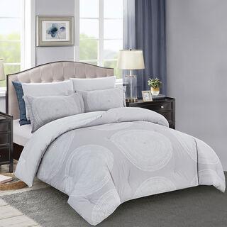 Comforter King Size 6 Pcs Set Classic Beige
