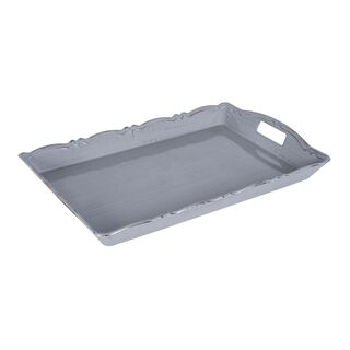 Serving Tray Antique Finish Grey Color