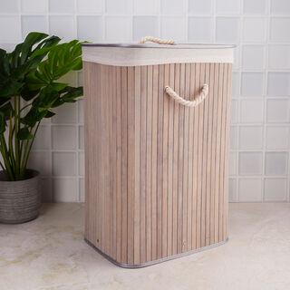 Bamboo Hamper Grey
