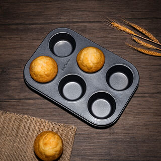 Betty Crocker Non Stick Muffin Pan 6 Cup Grey Color