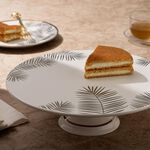 La Mesa Footed Cake Stand Gold Leaf image number 4
