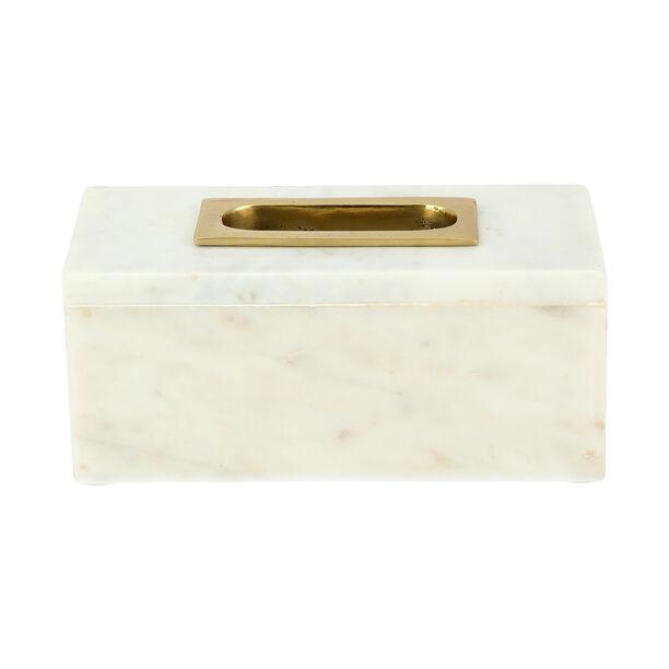 Tissue Box Marble White image number 1