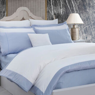 Boutique Balanch 6 Pieces Cotton Duvet Cover 300 Tc ,Wave Blue 260X240 Cm King