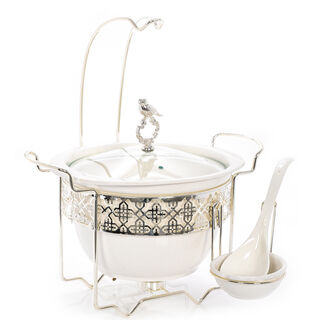 Deep Round Casserole With Hanger And Warmer