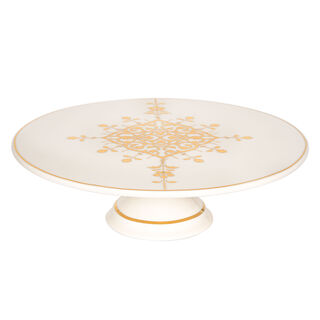 Footed Cake Stand Gold Frill