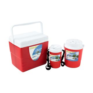 S/3 Cooler W/Water Jug 9/2/0.75L