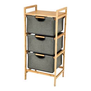 3 Tiers Bamboo Storage Drawers